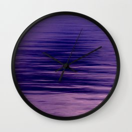 Movement of Water on a Calm Evening- Violet Abstraction Wall Clock