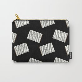 Open Book Pattern (Black) Carry-All Pouch