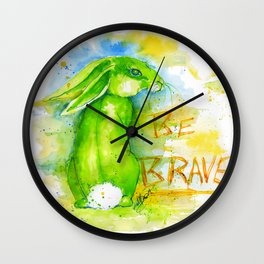 Be Brave In Color Wall Clock