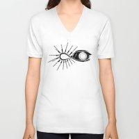 evolution V-neck T-shirts featuring EVOLUTION by Dario Calabria