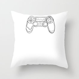 Gaming Gamer - One Line Drawing Throw Pillow