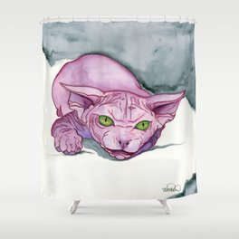 The Pink Sphinx Shower Curtain