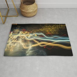 City Gold Light Fantastic Painted Abstract Rug