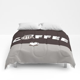 Coffee Pot Head - Brown Comforters