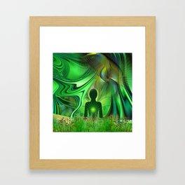 Heart Chakra Energy. Framed Art Print