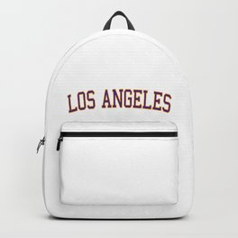 Los Angeles Sports College Font Backpack