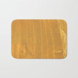 Dark yellow blurred watercolor pattern Bath Mat