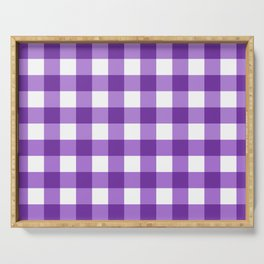 Purple Buffalo Check - more colors Serving Tray