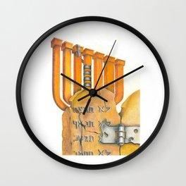 Judaism Wall Clock
