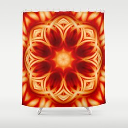 Fire Lotus Mandala Shower Curtain