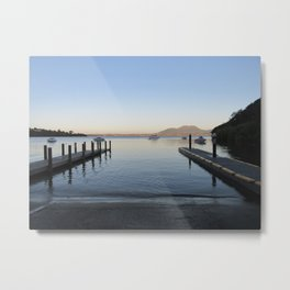 Sunset at Lake Taupo Metal Print