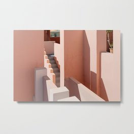 Shades of Pink at Muralla Roja   Travel fine art photography   Andalusia, Spain Metal Print