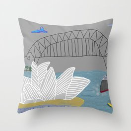 Smokey Sydney (Ken Done Tribute) Throw Pillow