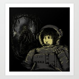 Space Horror Art Print