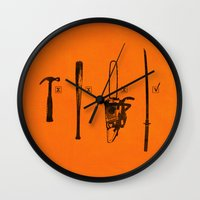 pulp Wall Clocks featuring Pulp Makers by Evan Luza