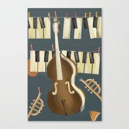 laundry jazz Canvas Print