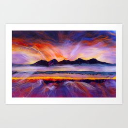 Isle of Rhum- Hebrides, Scotland Art Print