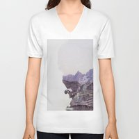 the national V-neck T-shirts featuring National Guard by PecDesign