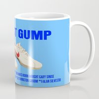 forrest gump Mugs featuring Forrest Gump Movie Poster by FunnyFaceArt