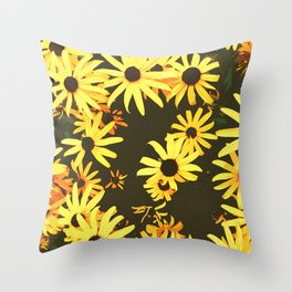 black eyed susan flowers Throw Pillow