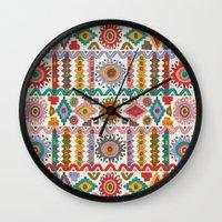 southwest Wall Clocks featuring Southwest by Helene Michau