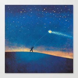 Stars Kite Canvas Print