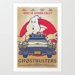 Who ya gonna call? Ghostbusters Movie Poster Art Print