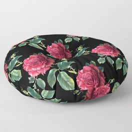 Pattern with roses 3 Floor Pillow