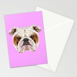 English Bulldog // Lilac Stationery Cards