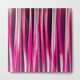Burgundy Rose Stripy Lines Pattern Metal Print
