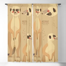 Meerkat, African Wildlife Blackout Curtain
