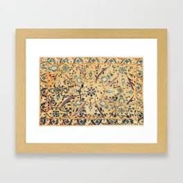 Kermina  Suzani  Antique Uzbekistan Embroidery Print Framed Art Print