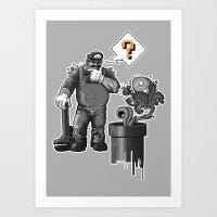 Mario vs. Piranha Plant Art Print