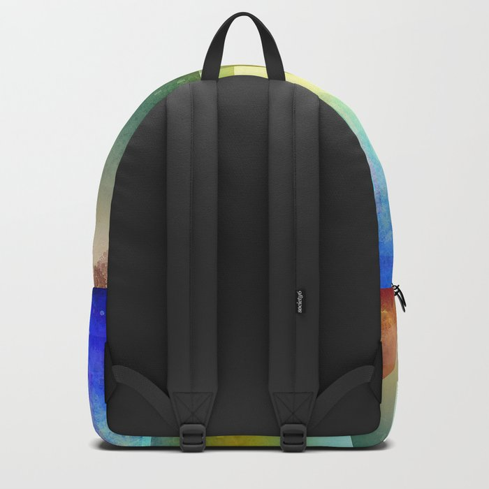 Colorful night digital illustration II. Backpack
