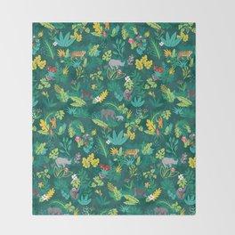 Sumatran Jungle Throw Blanket