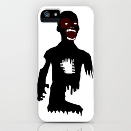 Black Blood Zombie iPhone Case
