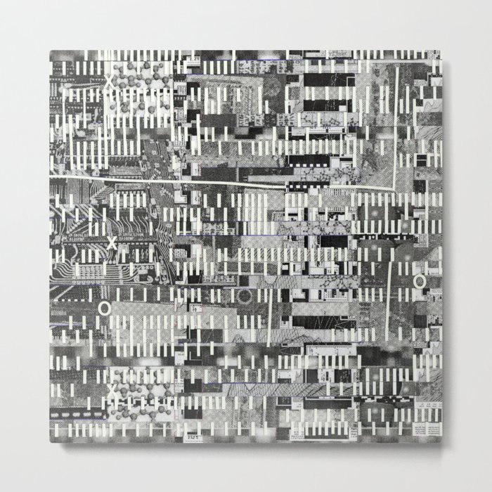 Exploiting Digital Behavior (P/D3 Glitch Collage Studies) Metal Print