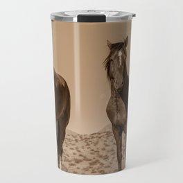 Wild_Horses Sepia 3501 - Nevada Travel Mug