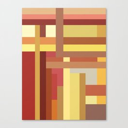 Marigold Stripes Canvas Print