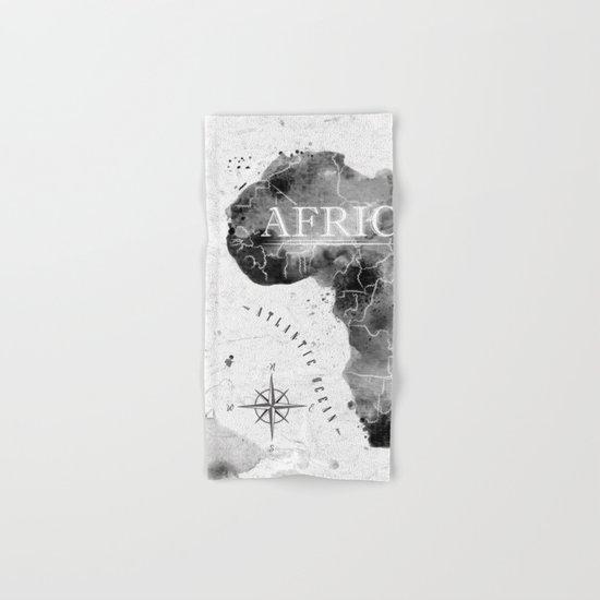 Black Africa Map Hand & Bath Towel