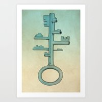 key Art Prints featuring Key by Mild Visualitis