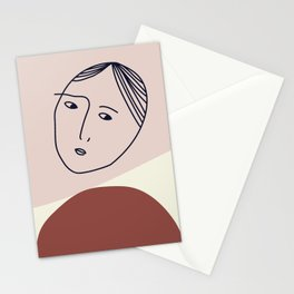 She's only inside her head Stationery Cards