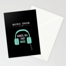 Noise-Cancelling — Music Snob Tip #808 Stationery Cards