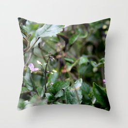 Purple Chlorophyll Throw Pillow