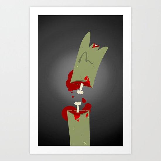 Lefty Zombie Art Print