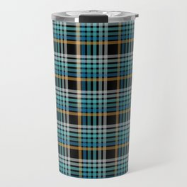Vibrant modern Scottish lines on black Travel Mug
