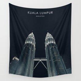 Kuala Lumpur, Malaysia Travel Artwork Wall Tapestry