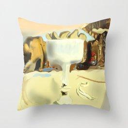 Vase Face Throw Pillow