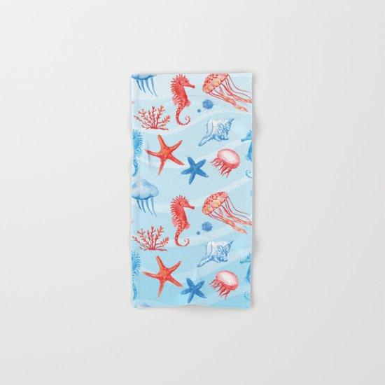Marine Pattern 09 Hand & Bath Towel
