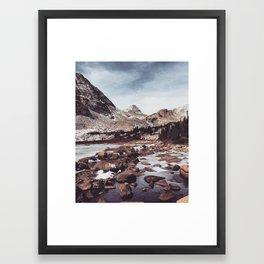 First Snow at 12k feet Framed Art Print